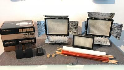 3er LED Licht Set Yongnuo und Polaroid