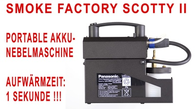 Smoke Factory Scotty II - PORTABLE NEBELMASCHINE mit AKKU