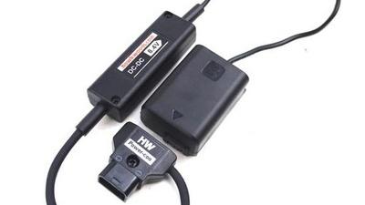 Adapter für  Sony a 7S (II)  D-Tap auf Dummy NP-FW50 Akku