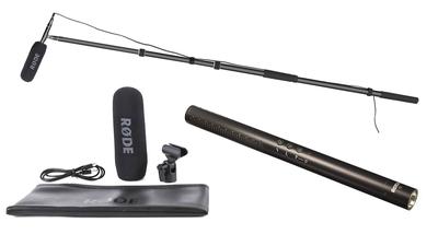 Mikrofon-Set für Tonaufnahmen mit Tonangel (RODE NTG4+)