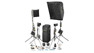 Dedolight 4-Lightkit SPS4 mit Softbox - Lichtkoffer