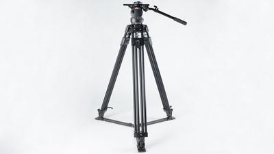 Manfrotto 350MVB VIDEO PRO TRIPOD Stativ + Fluid Videoneiger
