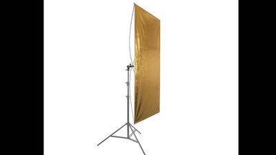 Reflekor mit Stativ gold oder Silber 90x180cm