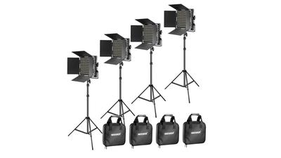 4x Neewer Flächenleuchte 660 LED