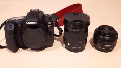 Canon 80D mit Sigma 17-70mm und Canon 50mm