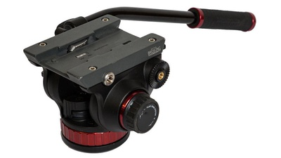 Manfrotto 502AH Fluid Video-Neiger mit 504PL