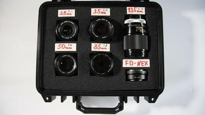 Canon FD Objektiv einzeln (Mietpreis pro Ojektiv)