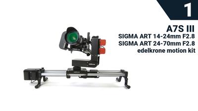 S1: SONY A7S III + Edelkrone Motion Kit + 2x Sigma Art Obj.