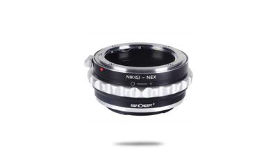 Nikon F zu Sony E Adapter mit Blendenregelung