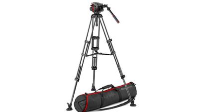 Stativ-Set: Manfrotto 504HD Fluidkopf mit Carbon Videostativ