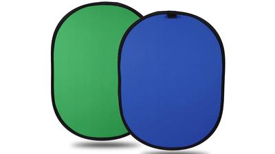 Faltbarer Chromakey Hintergrund Green Screen + Blue Screen
