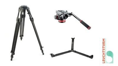 Manfrotto VIDEO PRO-TRIPOD BLACK, Spinne, Fluid-Kopf