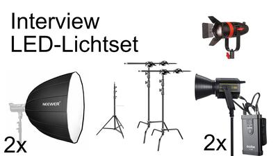 Licht-Set (2xGodox Vl150, Boltzen 55w, Stative, Softboxen)