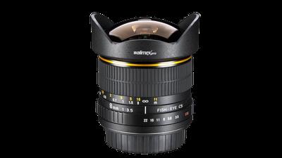 Walimex Pro 8mm 1:3,5 DSLR Fish-Eye-Objektiv für Canon EF-S
