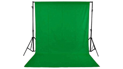 Greenscreen mit Hintergrundsystem