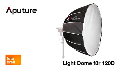Aputure Light Dome mit bowens Mount für Lightsorm 120d
