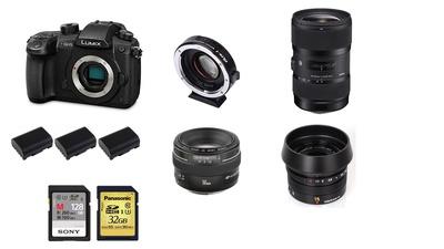 GH5 CameraKit (inkl. Sigma 18-35 ART, EF 50mm, Leica 15mm)