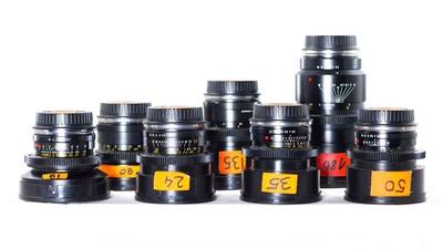Leica-R Elmarit / Summicron Optiksatz mit Cinemod