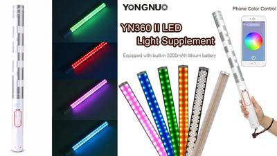 RGB YONGNUO YN360 II Pro LED Videoleuchte 5500K Stab