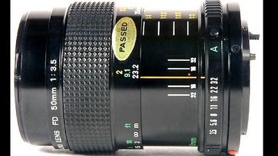 Canon FD 50mm 3.5 Macro Objektiv inkl. FD auf MFT-Adapter