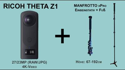 Ricoh Theta Z1 360°-Kamera (Foto/Video) inkl. Stativ