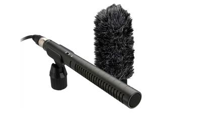 Richtmikrofon Rode NTG1 inkl. Stativhalter und Windschutz