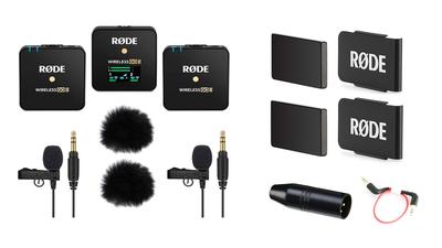 Rode Wireless Go II + 2x Lavalier + Windschutz + XLR-Adapter