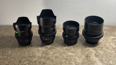 ZEISS Set 25 / 35 / 50 / 85mm f1.4 f2 Canon EF mit Gear Ring